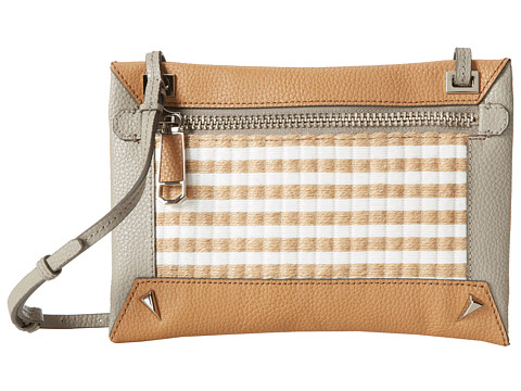 Rafe New York - Alex Striped Jute Xbody (Natural) Cross Body Handbags
