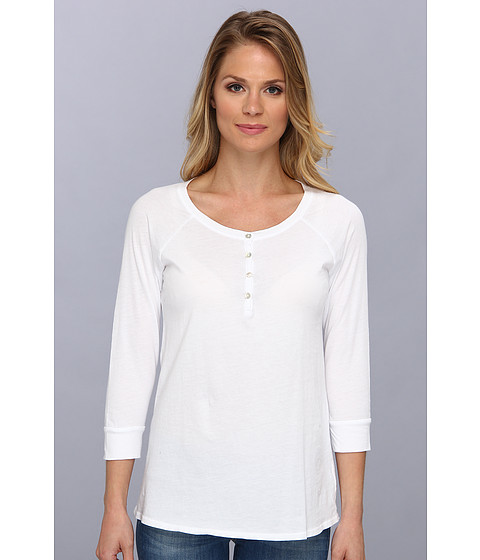 LAmade - 3/4 Sleeve Henley (White) Women