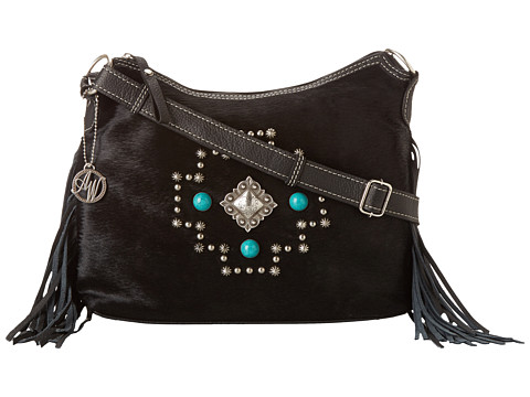 American West - Free Spirit Crossbody (Black) Cross Body Handbags