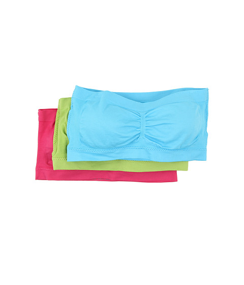 Coobie - Bandeau 3-Pack Brights (Bahama Blue/Lime Green/Hot Pink) Women's Bra