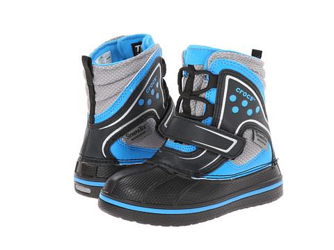 Crocs Kids - AllCast Waterproof Boot GS (Toddler/Little Kid/Big Kid) (Black/Ocean) Boys Shoes