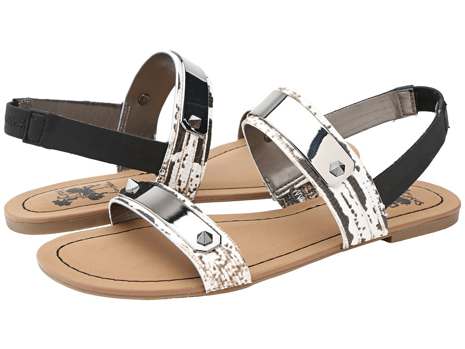Circus by Sam Edelman - Bryn (Black/White Lizard) Women's Sandals