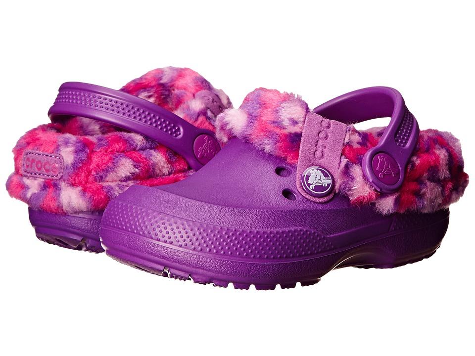 Crocs Kids - Blitzen II Animal Print Clog K (Toddler/Little Kid) (Amethyst/Candy Pink) Girls Shoes