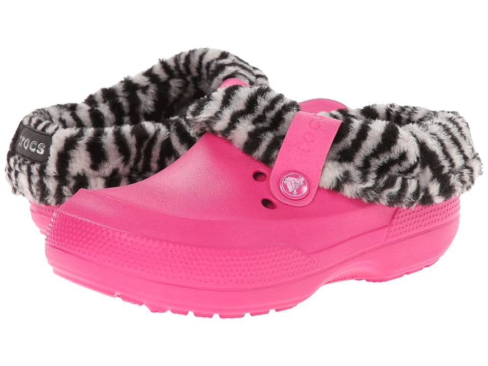 Crocs Kids - Blitzen II Animal Print Clog K (Toddler/Little Kid) (Candy Pink/Black) Girls Shoes