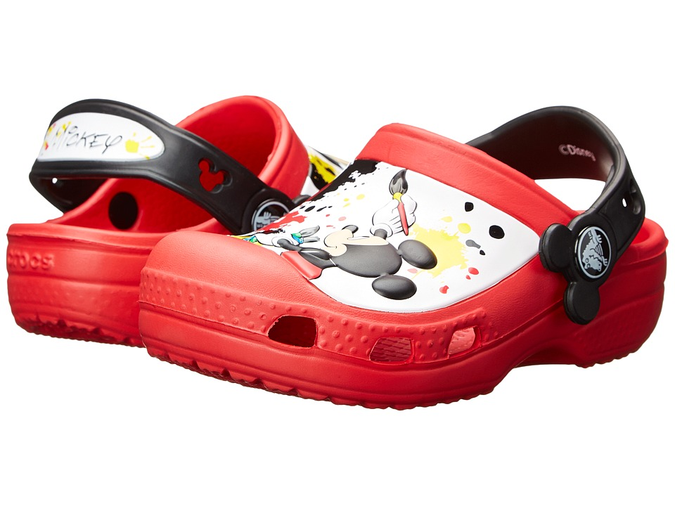 Crocs Kids - Mickey Paint Splatter (Toddler/Little Kid) (Red) Kids Shoes