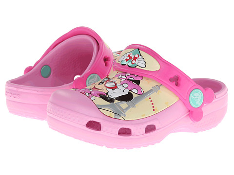 Crocs Kids - Minnie Jet Set (Toddler/Little Kid) (Carnation) Girls Shoes