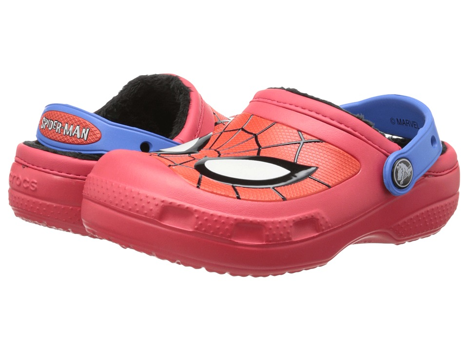 Crocs Kids - Spiderman Lined Clog (Toddler/Little Kid) (Red) Boys Shoes