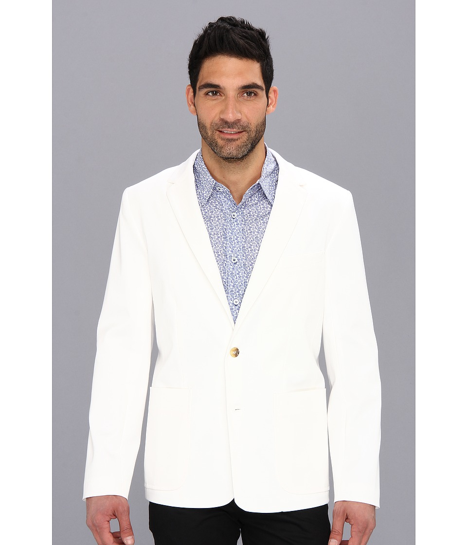 Mr.Turk - Solid Melvin Blazer (White) Men's Jacket