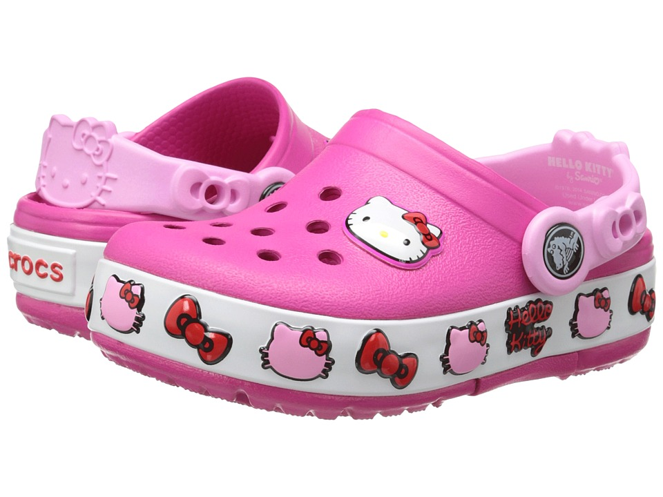 Crocs Kids - CrocsLights Hello Kitty Clog (Toddler/Little Kid/Big Kid) (Candy Pink) Girls Shoes