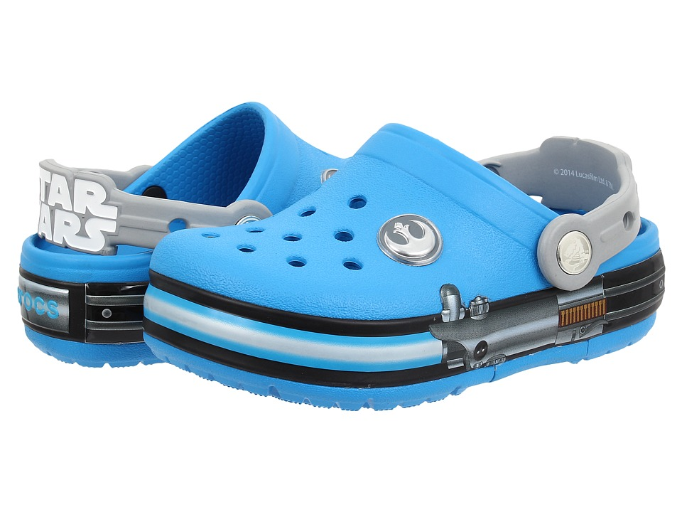 Crocs Kids - CrocsLights Star Wars Jedi (Toddler/Little Kid) (Ocean/Light Grey) Boys Shoes