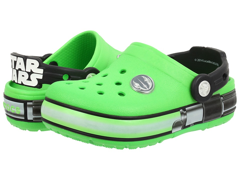 Crocs Kids - CrocsLights Star Wars Yoda (Toddler/Little Kid) (Neon Green/Black) Boys Shoes
