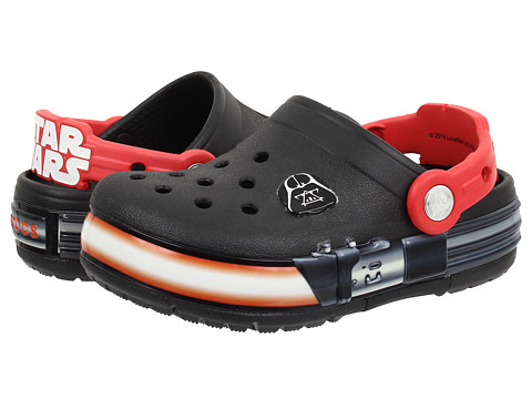 Crocs Kids - CrocsLights Star Wars Vader (Toddler/Little Kid) (Black/Flame) Boys Shoes