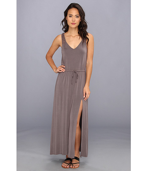 LAmade - V Back Tie Waist Maxi (Fennel) Women's Dress