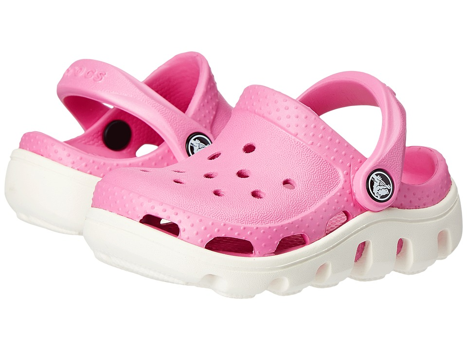 Crocs Kids - Duet Sport Clog (Toddler/Little Kid) (Party Pink/Oyster) Girls Shoes