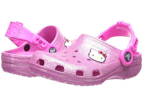 Crocs Kids - Hello Kitty Glitter Clog (Toddler/Little Kid) (Party Pink) Girls Shoes