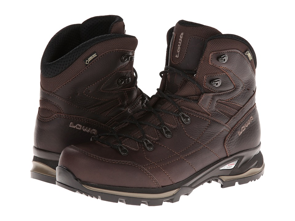 Lowa - Hudson GTX Mid (Dark Brown) Men's Shoes