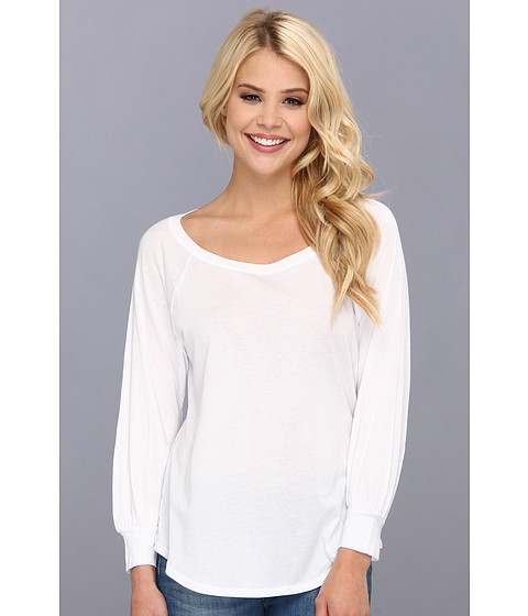 LAmade - 3/4 Sleeve Raglan (White) Women's Long Sleeve Pullover
