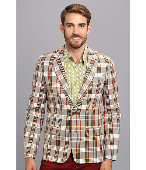 Mr.Turk - Graham Blazer in LA Plaid Olive (La Plaid Olive) Men's Jacket
