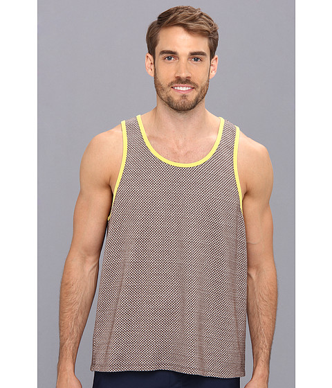 Mr.Turk - Travis Tank in Lancaster Cross Knit (Brown) Men