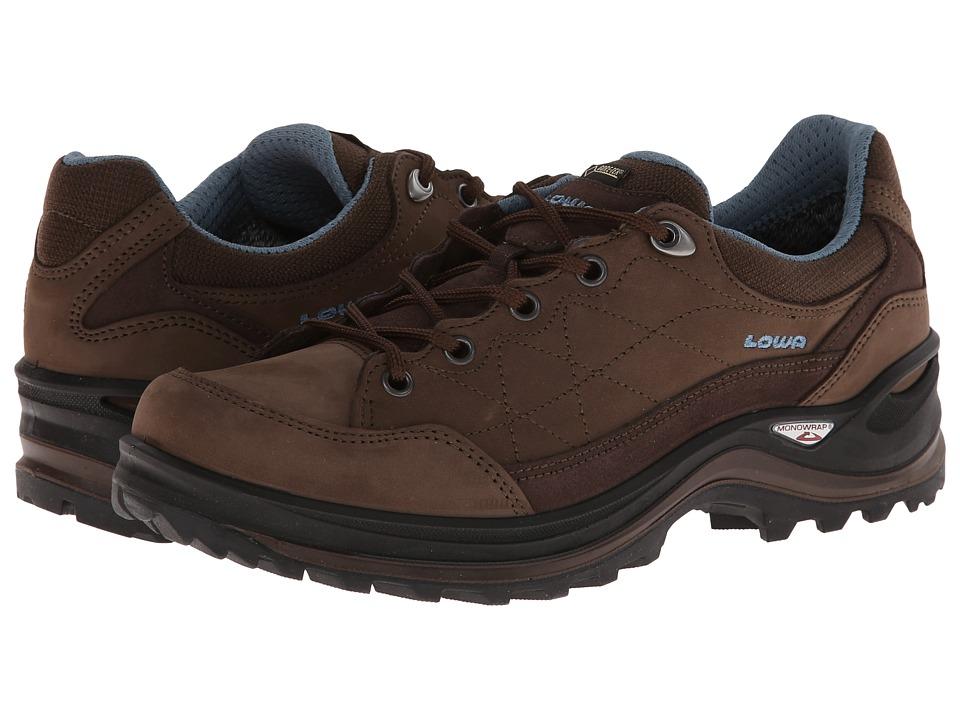Lowa - Renegade III GTX Lo WS (Brown/Denim) Women's Shoes