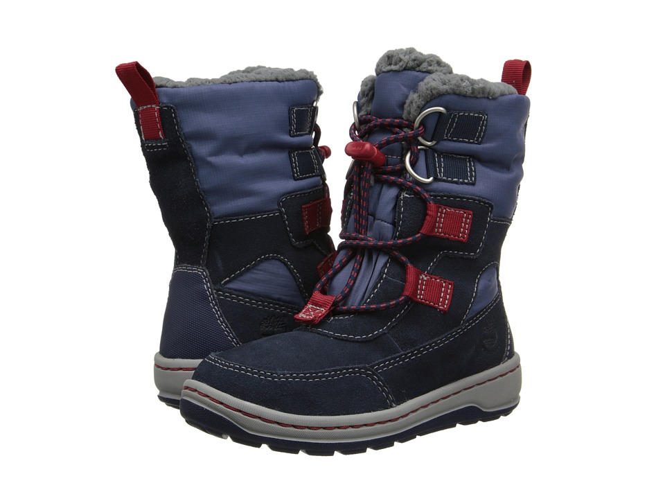 Timberland Kids - Winterfest Waterproof Boot (Toddler/Little Kid) (Navy/Red) Boys Shoes