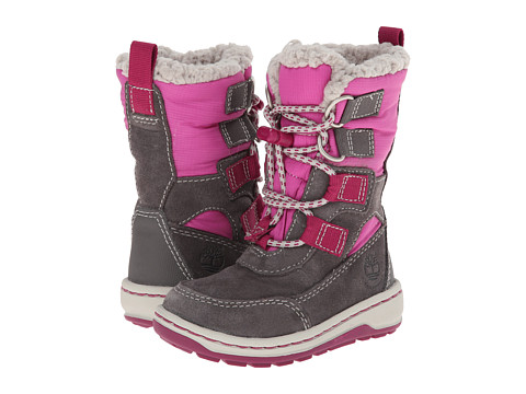 Timberland Kids - Winterfest Waterproof Boot (Toddler/Little Kid) (Grey/Pink) Girls Shoes