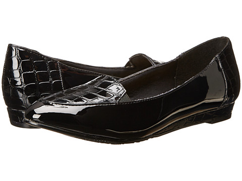 Soft Style - Delany (Black Vitello/Patent) Women's Shoes