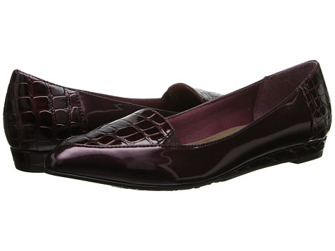 Soft Style - Delany (Wine Patent/Croco) Women's Shoes