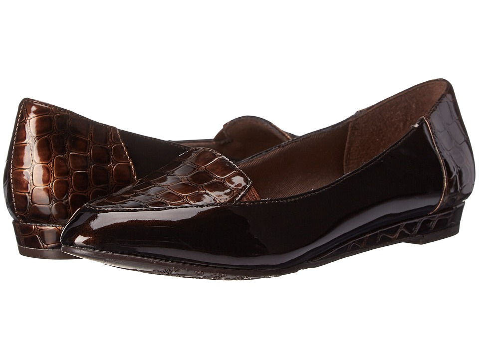 Soft Style - Delany (Dark Brown Patent/Croco) Women