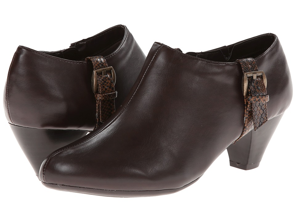 Soft Style - Glynis (Dark Brown/Dark Brown Snake) High Heels