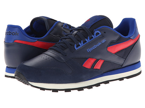 Reebok Lifestyle - Classic Leather RE (Collegiate Navy/Team Dark Royal/Excellent Red) Men