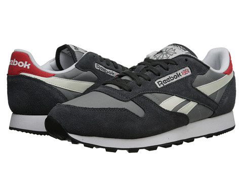 Reebok Lifestyle - Classic Sport (Flat Grey/Gravel/Chalk/China Red/White/Black) Men's Classic Shoes
