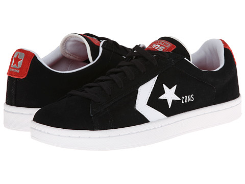 Converse - Pro Leather '76 Skate (Black/White/Red) Men's Shoes