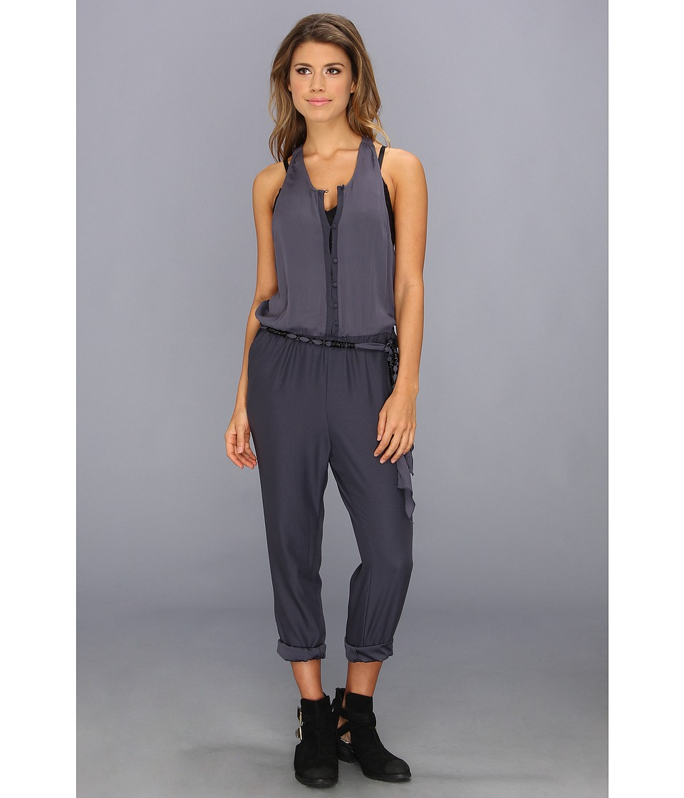 Free People - Angelica Romper (Storm Blue) Women's Jumpsuit & Rompers One Piece