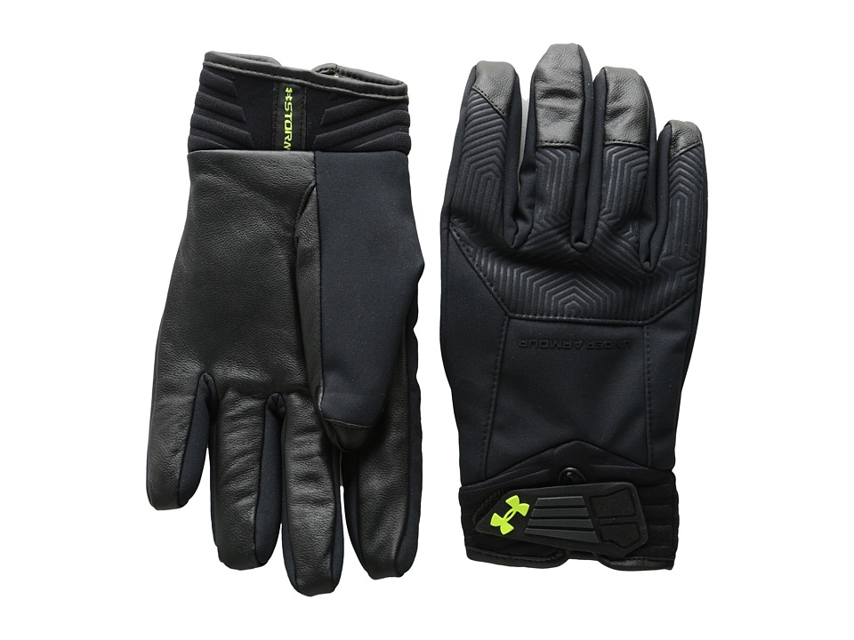 Under Armour - UA Coldgear(r) Infrared Storm Elite Glove (Black/Black/High-Vis Yellow) Extreme Cold Weather Gloves