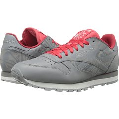 Reebok Lifestyle Classic Leather Reflect (Shark/Excellent Red/Flat Grey/White) Men's Classic Shoes