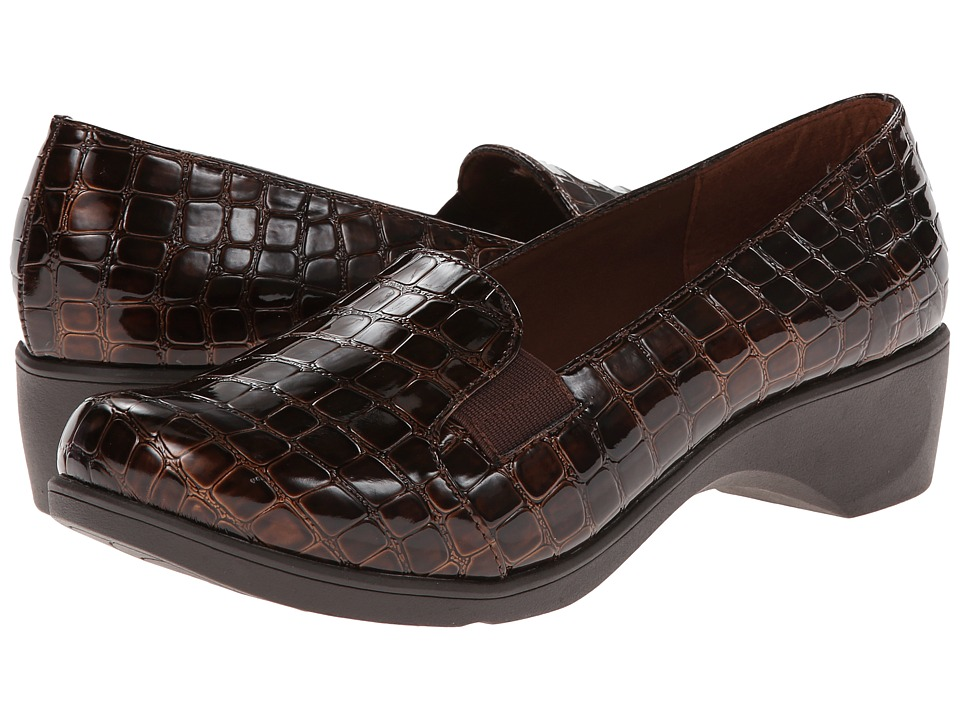 Soft Style - Kaden (Dark Brown Croco) Women's Shoes