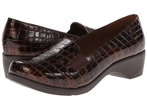 Soft Style - Kaden (Dark Brown Croco) Women's Shoes