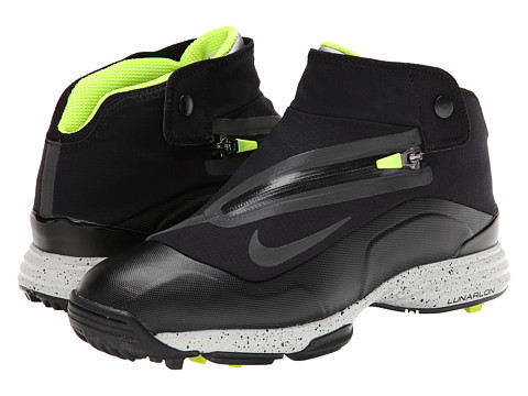 Nike Golf - Nike Lunar Bandon II (Black/Black/Volt) Men's Golf Shoes