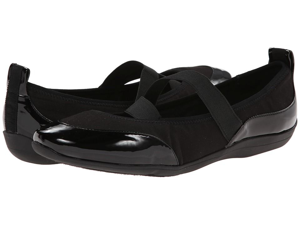 Soft Style - Haden (Black Fabric/Patent) Women's Shoes