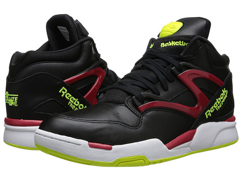 Reebok Lifestyle Pump Omni Lite (Black/Excellent Red/Solar Yellow/White) Men's Classic Shoes
