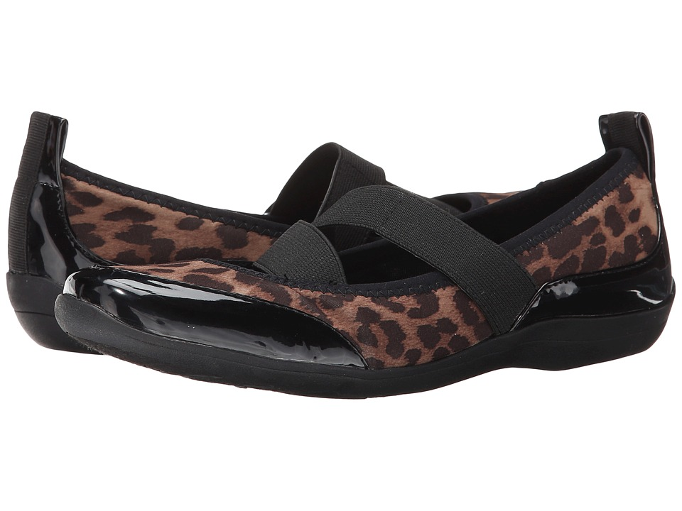 Soft Style - Haden (Leopard Fabric/Patent) Women's Shoes