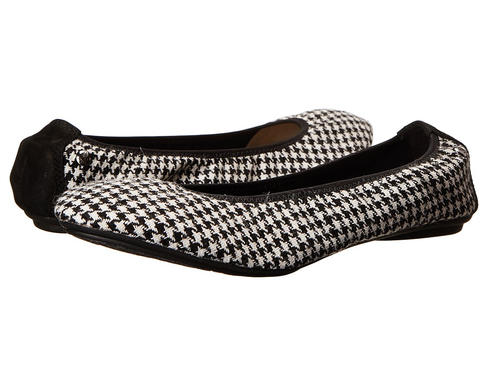 Hush Puppies - Chaste Ballet (Black/White Houndstooth) Women's Flat Shoes
