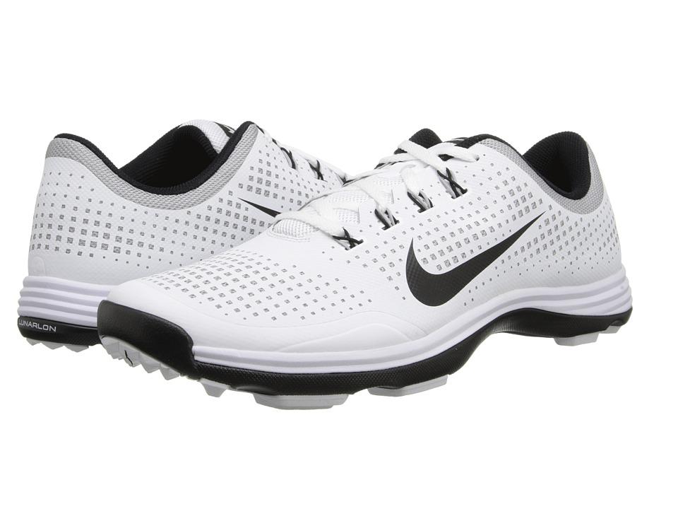 Nike Golf - Nike Lunar Cypress (White/Black/Wolf Grey) Men's Golf Shoes