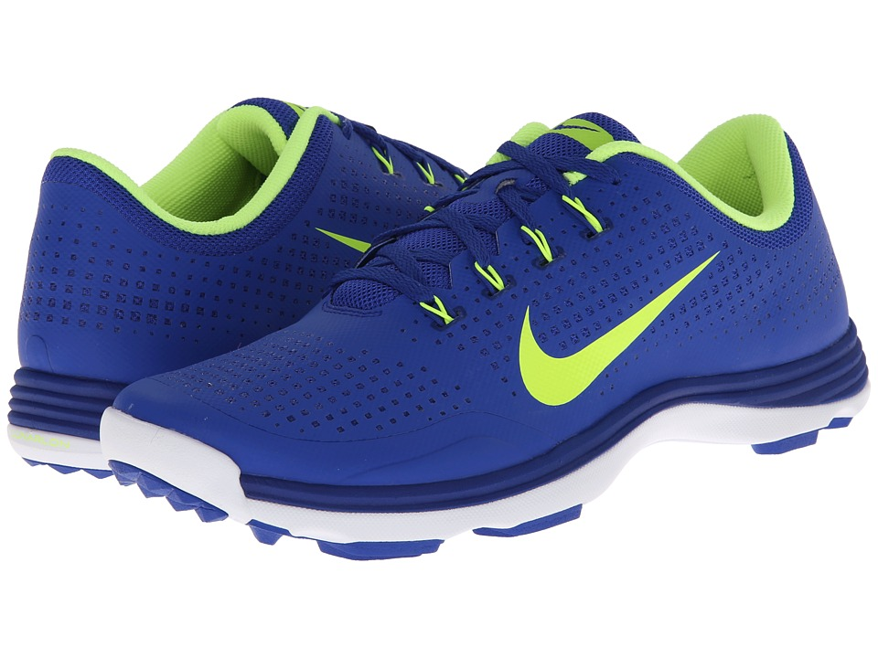 Nike Golf - Nike Lunar Cypress (Bright Blue/Volt/White) Men's Golf Shoes