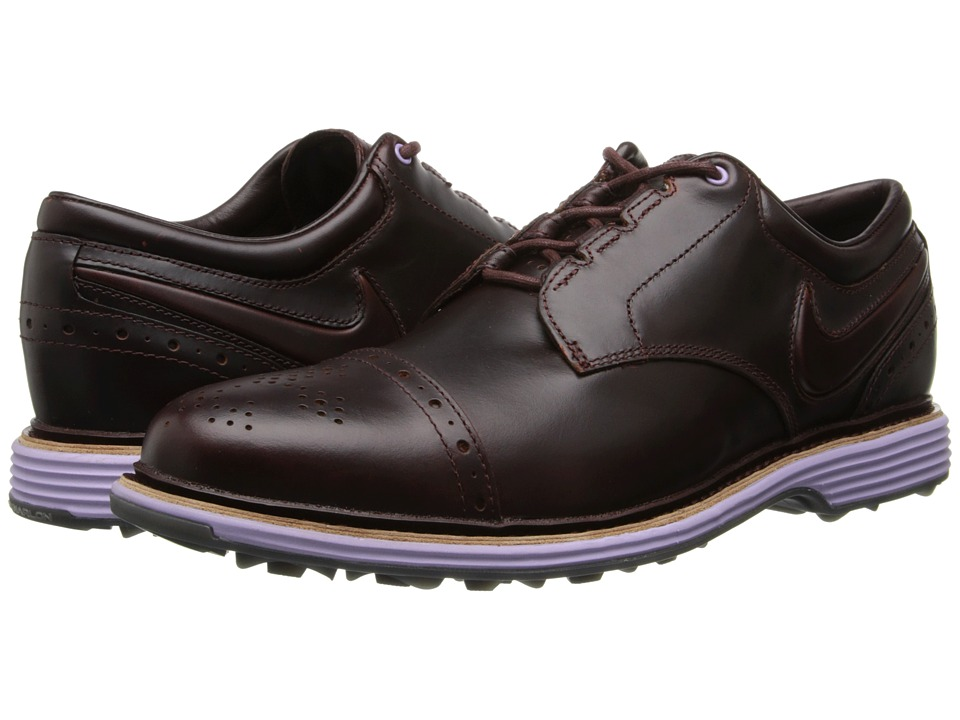 Nike Golf - Lunar Clayton (Deep Burgundy/Deep Burgundy/Hydrangas) Men's Golf Shoes