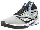 Reebok Baseline 1.0 (Flat Grey/Black/White/Impact Blue) Men's Basketball Shoes