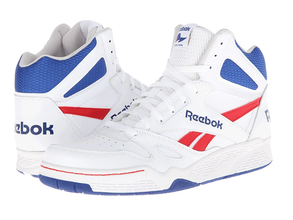 Reebok - Royal BB4500 Hi (White/Steel/Team Dark Royal/Excellent Red) Men's Basketball Shoes