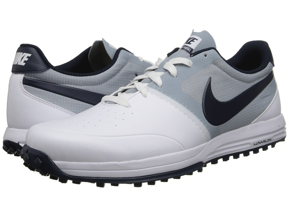 Nike Golf - Nike Lunar Mont Royal (White/Obsidian/Light Magnet Grey) Men's Golf Shoes