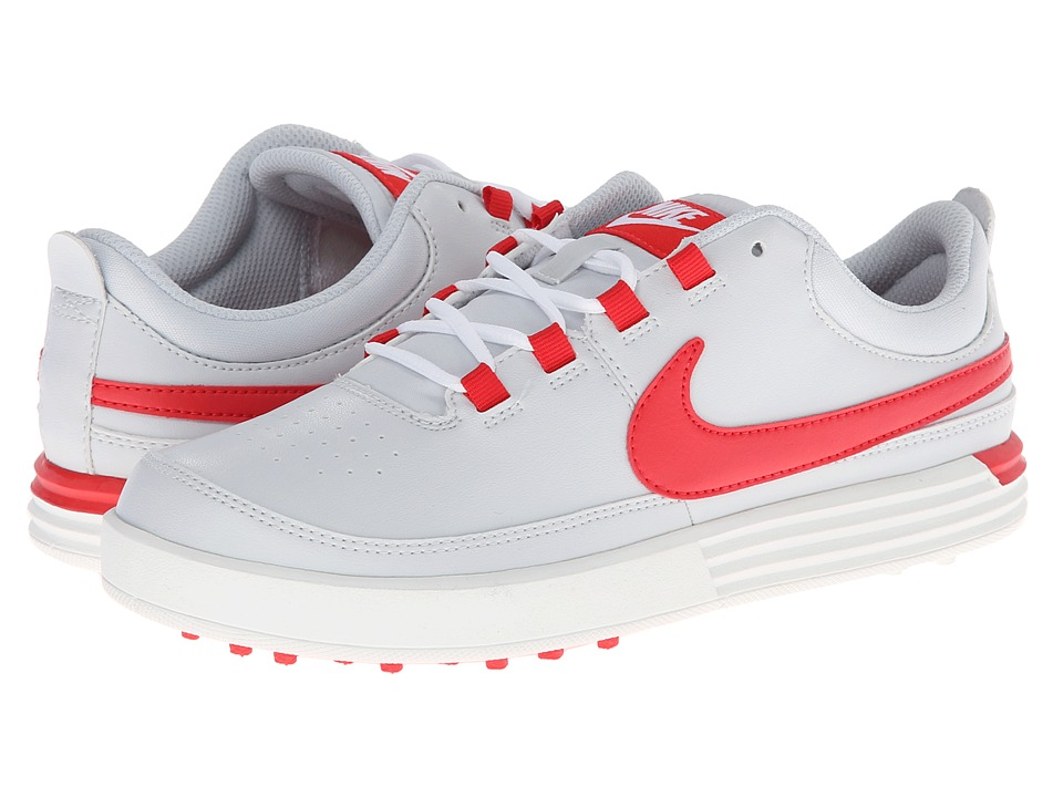 Nike Golf - Nike VT Jr. (Littlle Kid/Big Kid) (Pure Platinum/Action Red/Sail) Men's Golf Shoes